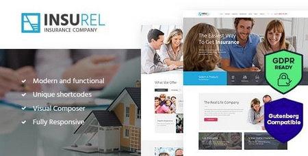 قالب InsuRel   قالب بیمه و امور مالی برای وردپرس