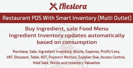 اسکریپت مدیریت رستوران با قابلیت چند فروشندگی iRestora