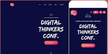 دانلود قالب برگذاری رویداد ها JA Conference برای جوملا
