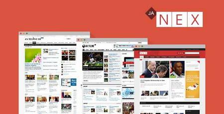 دانلود قالب مجله ای JA Nex برای جوملا