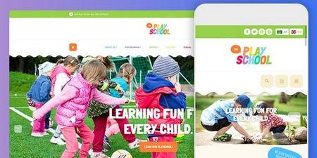 قالب مهدکودک و پیش دبستان JA Playschool برای جوملا