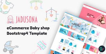 دانلود قالب HTML فروشگاه لوازم کودک Jadusona