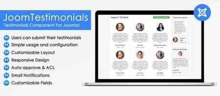 افزونه نمایش نظرات مشتریان در جوملا JoomTestimonials