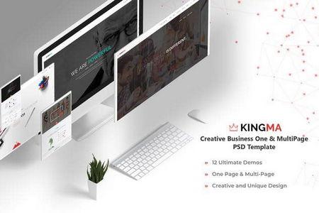 دانلود قالب PSD لایه باز سایت شرکتی Kingma