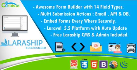 اسکریپت فرم ساز حرفه ای Laraship Form Builder