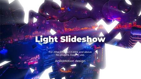 دانلود پروژه آماده افتر افکت ایجاد اسلایدشو Light Slideshow