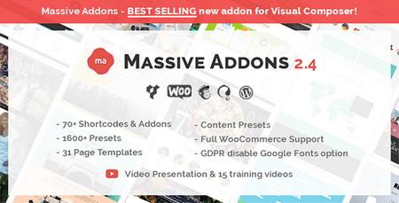 افزایش امکانات صفحه ساز WPBakery Page Builder با افزونه Massive Addons