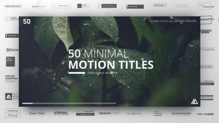 دانلود پروژه آماده افتر افکت کلکسیون عناوین مینیمال Minimal Titles Collection