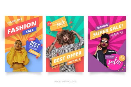 مجموعه طرح های لایه باز پوستر تبلیغاتی مد و فشن