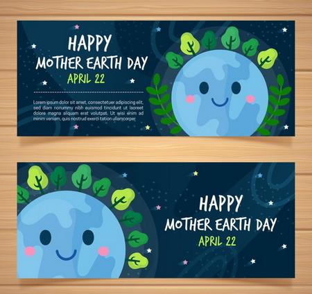 دانلود طرح لایه باز بنر تبریک روز جهانی زمین