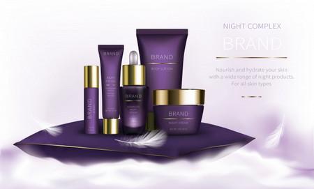طرح پوستر لایه باز محصولات آرایشی و بهداشتی به صورت 3 بعدی