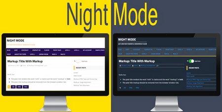 افزونه فعال سازی حالت شب برای وردپرس Night Mode for WordPress