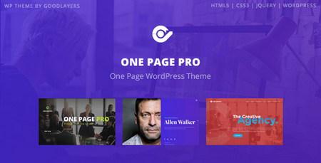 دانلود قالب تک صفحه ای One Page Pro برای وردپرس