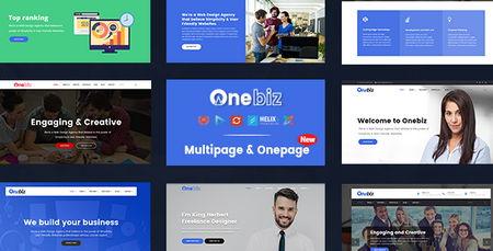 دانلود قالب شرکتی و چندمنظوره Onebiz برای جوملا