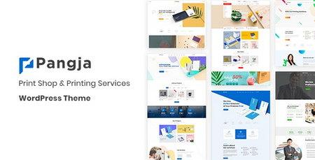 پوسته خدمات چاپ و فروش چاپگر حرفه ای Pangja برای وردپرس