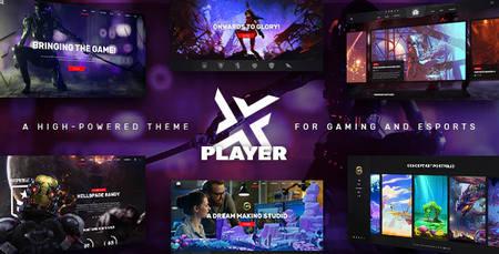 قالب قدرتمند eSports و گیمینگ PlayerX برای وردپرس