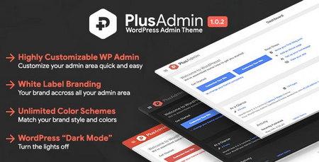 افزونه سفارشی سازی ظاهر مدیریت وردپرس PLUS Admin Theme