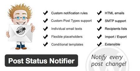 افزونه اطلاع رسانی وضعیت پست ها در وردپرس Post Status Notifier