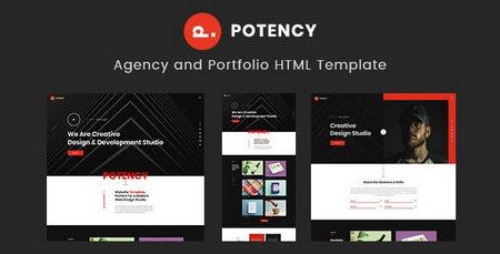 دانلود قالب HTML نمونه کار و پورتفولیو Potency