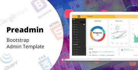 دانلود قالب HTML مدیریت وب سایت Preadmin