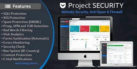 اسکریپت حفظ امنیت وب سایت ، آنتی ویروس و فایروال Project SECURITY