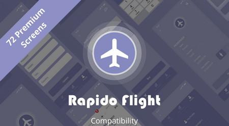 دانلود قالب رابط کاربری اپلیکیشن فروش آنلاین بلیط هواپیما Rapido Flight Online Ticket