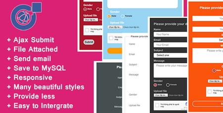اسکریپت فرم تماس با ما واکنش گرا و آژاکس Responsive AJAX Contact Form