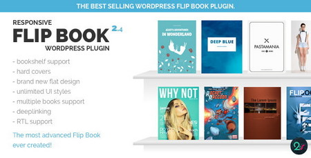 نمایش کتاب به صورت سه بعدی در وردپرس با افزونه Responsive FlipBook نسخه 2.4