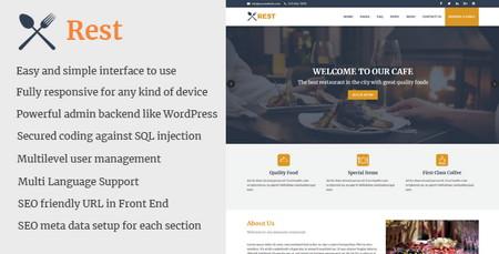 اسکریپت راه اندازی وبسایت کافه و رستوران Rest