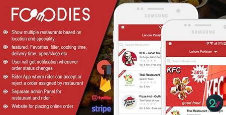 دانلود سورس اپلیکیشن اندروید سفارش و تحویل غذا رستوران FOODIES