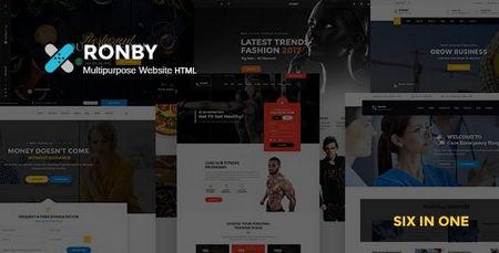 دانلود قالب HTML چندمنظوره Ronby