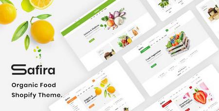 دانلود قالب Safira – قالب محصولات مواد غذایی و ارگانیک برای وردپرس