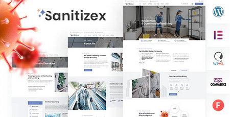 قالب خدمات بهداشتی Sanitizex برای وردپرس