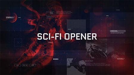 دانلود پروژه آماده افتر افکت تریلر نمایشگر علمی تخیلی Sci Fi Opener