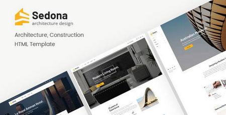 دانلود قالب HTML معماری و ساختمانی Sedona