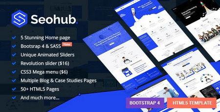 دانلود قالب HTML چندمنظوره و شرکتی SEOhub