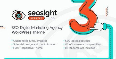 پوسته سایت بازاریابی و خدمات سئو Seosight برای وردپرس