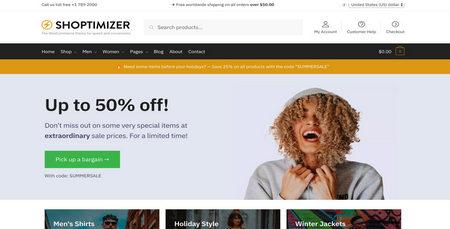 قالب فروشگاهی بهینه و قدرتمند Shoptimizer برای ووکامرس
