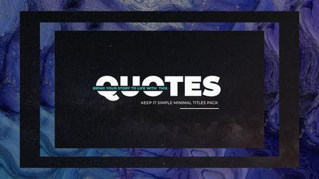 دانلود پروژه آماده افتر افکت نمایش نقل قول Simply Quotes