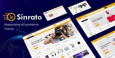 قالب فروشگاه لوازم الکترونیکی Sinrato برای وردپرس