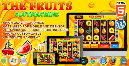 اسکریپت بازی آنلاین سرگرمی و اعتیاد آور Slot Machine The Fruits