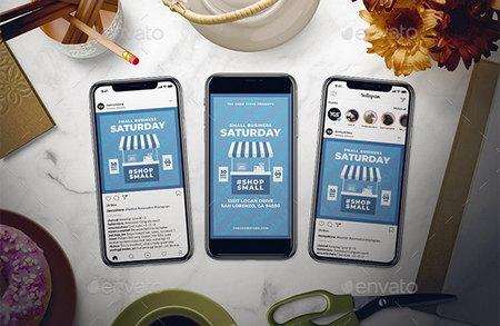 دانلود مجموعه تراکت برای کسب و کارهای کوچک Small Business Saturday Flyer Set