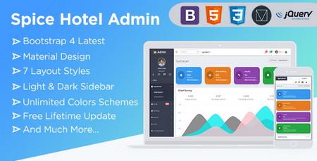 دانلود قالب HTML بخش مدیریت وب سایت Spice Hotel