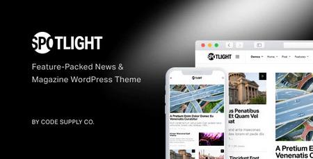 قالب خبری و مجله ای Spotlight برای وردپرس