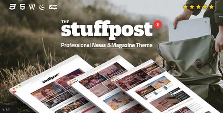 دانلود قالب مجله ای و خبری StuffPost برای وردپرس