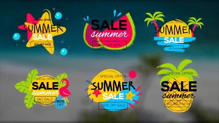 دانلود پروژه آماده افتر افکت تایتل تخفیفات Summer Sale Titles