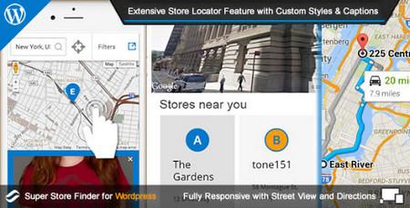 افزونه فروشگاه یاب وردپرس Super Store Finder for WordPress