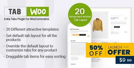 افزونه زبانه های سفارشی محصول TabWoo برای ووکامرس