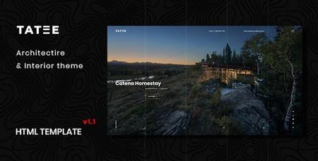 قالب HTML معماری و ساختمانی Tatee