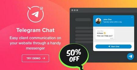 افزونه Telegram Chat   افزونه چت و پشتیبانی از طریق تلگرام در وردپرس